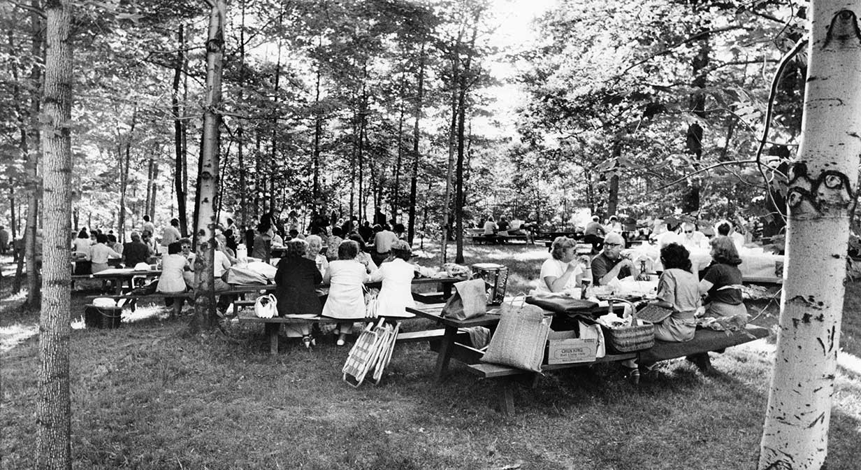 Picnickers at Blossom Music Center, 1979.
