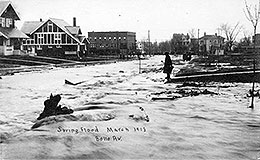 Belle Ave. in Lakewood during the 1913 Flood