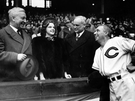 Judy Garland at the Indians home opener in 1939