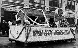 St. Patrick's Day parade float, 1939.
