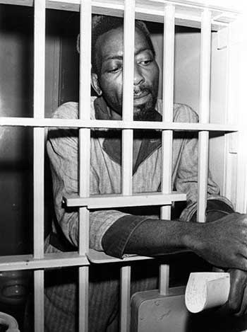 Fred Ahmed Evans in jail, 1968