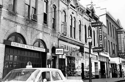 Downtown's oldest buildings, 1963
