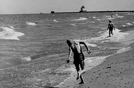 Children on beach, Mentor Headlands, 1963.