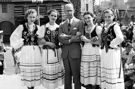 Polish Day at the Great Lakes Exposition in 1938