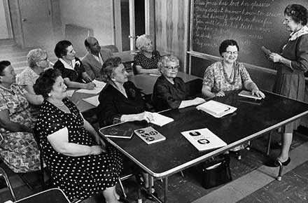 English Class at University Settlement, 1964.