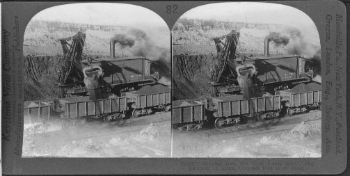 Digging Iron Ore With Steam Shovel