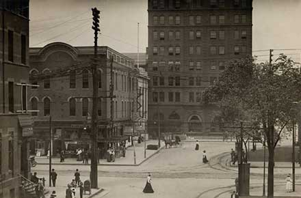 Public Square in Downtown Youngstown, 1909